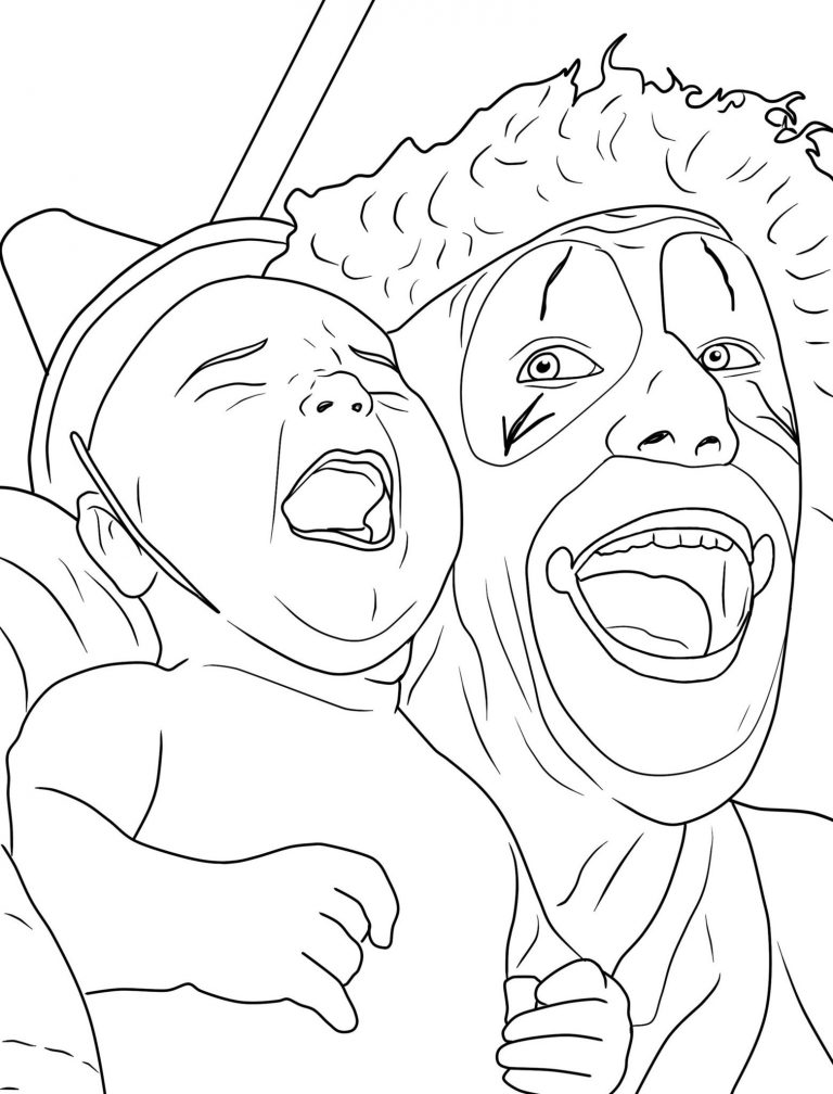 the creepy clowns coloring book il libro sui clown da