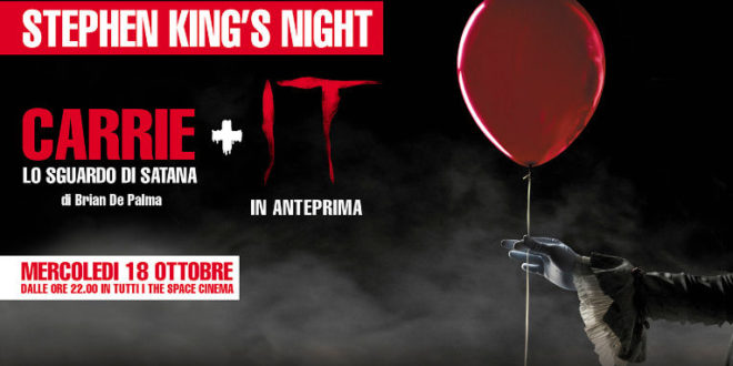 Stephen King's Night: la cinemaratona di The Space Cinema
