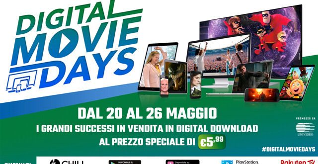 CG per Digital Movie Days: promozioni sulle piattaforme di digital download